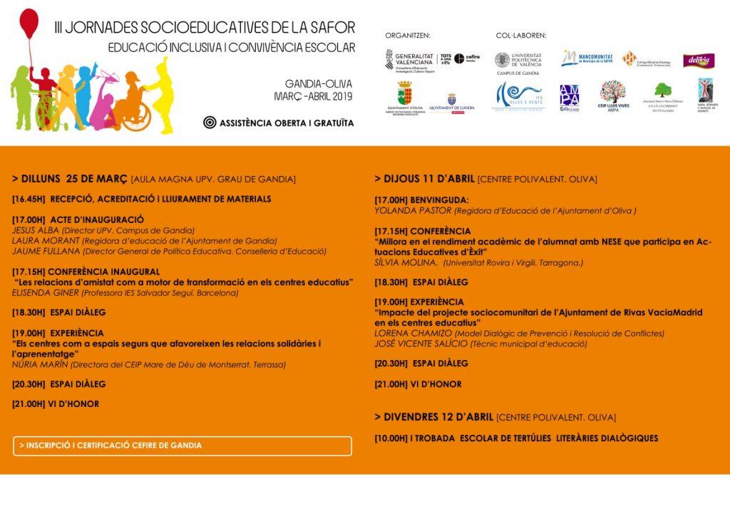Presentación de resultados preliminares de INTER-ACT en las III Jornades de Socioeducatives de la Safor